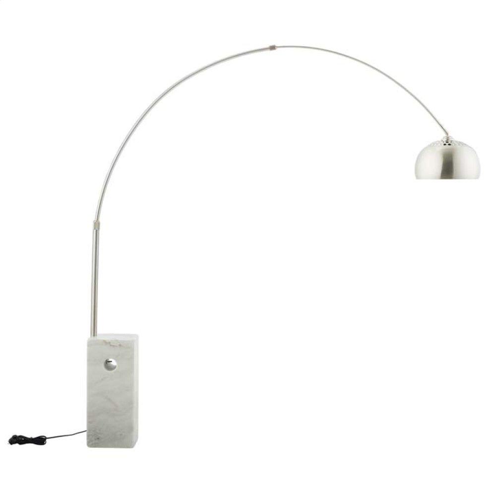 Sunflower Cube Marble Base Floor Lamp in White