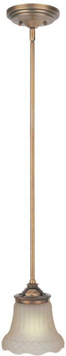 Pendant Lamp - Brushed Copper/amber Glass, E27 Type A 60w Product Image