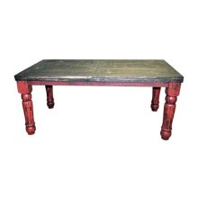 Red Scraped 6'dining Table