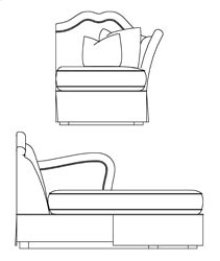 RAF Sectional Chaise
