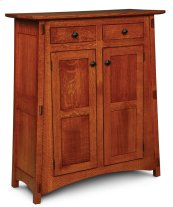 McCoy 2-Door Cabinet with Wood Doors