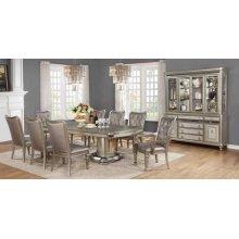 Danette Metallic Platinum Dining Table