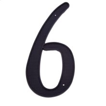 "Black 4"" House Number ""6/9"""
