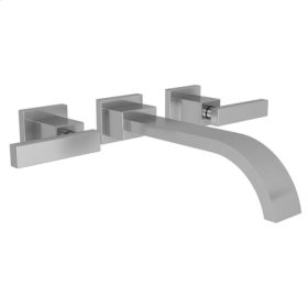 Aged Brass Wall Mount Lavatory Faucet