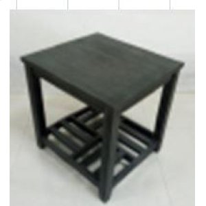 Rustic Grey Side Table