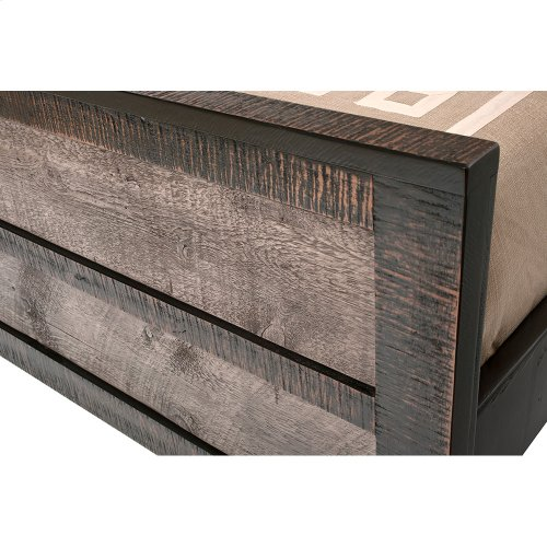 Urban Graphite Panel Bed - California King Headboard Only