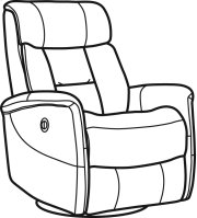 Hart Leather Queen Power Swivel Gliding Recliner Product Image