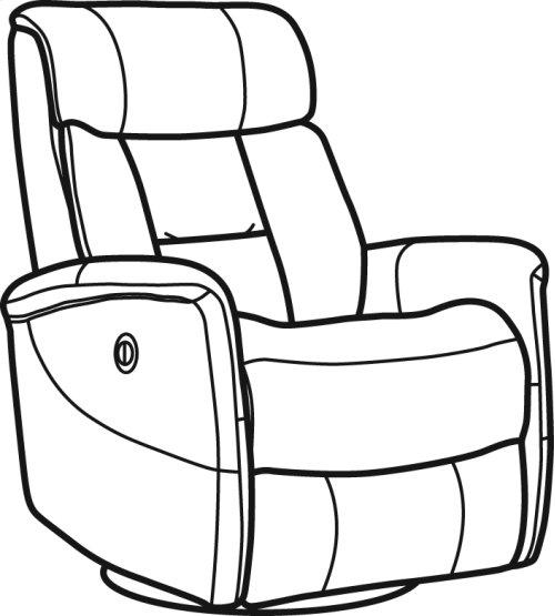 Hart Leather Queen Power Swivel Gliding Recliner