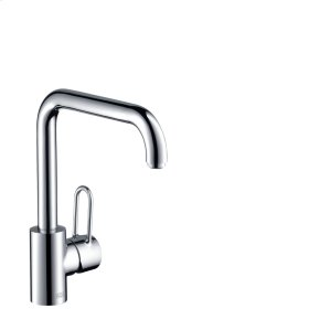 Polished Red Gold Single lever kitchen mixer 230 with swivel spout