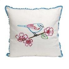 Clora Embroidered Bird Pillow