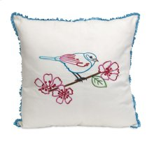 Clora Embroidered Bird Pillow