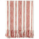 Grain Sack Throw, RED, THRW Product Image