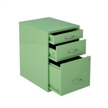"22"" Pencil, Box, Storage File Cabinet In Green Finish"