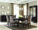 Classics Leg Dining Table with 6 Upholstered Chairs Product Image