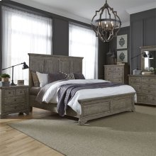 King California Panel Bed, Dresser & Mirror, NS
