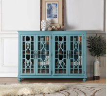 Anthology Meghan Blue 4-Door Chest