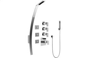 Luna Thermostatic Shower Set w/ Body Sprays & Handshower (Rough & Trim)