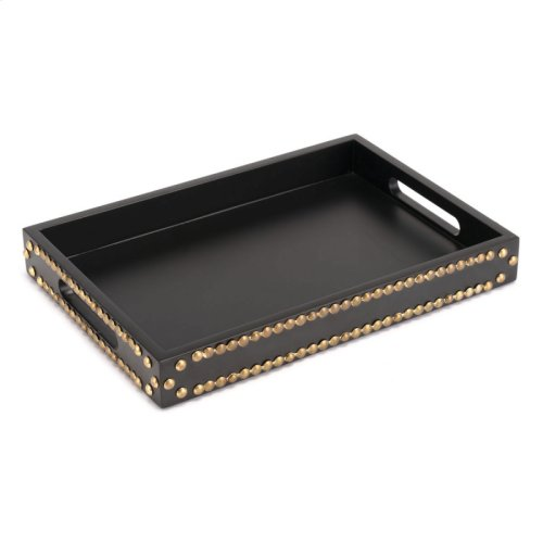 Tray With Studs Black
