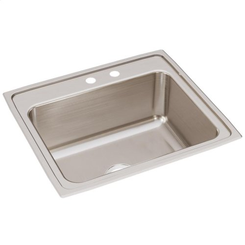 "Elkay Lustertone Classic Stainless Steel 25"" x 22"" x 10-3/8"", Single Bowl Drop-in Sink"