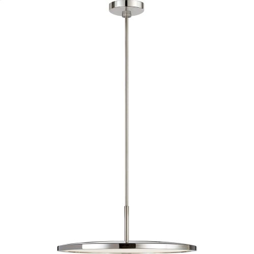Visual Comfort PB5002PN Peter Bristol Dot LED 10 inch Polished Nickel Pendant Ceiling Light