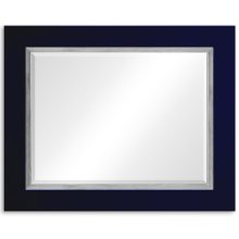 "British Navy & Silver ""Homespun"" Mirror"