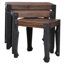 Rustic Wood & Iron Table