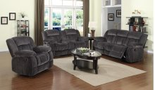 Madison 3pc Reclining Living Room Collection with Loveseat Console