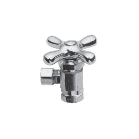 "Weathered Brass Angle Valve, 3/8"" IPS"