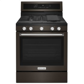 30-Inch 5-Burner Gas Convection Range - Stainless Steel with PrintShield™ Finish