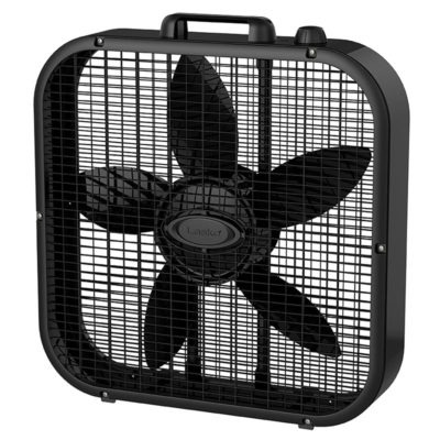 "D cor Colors 20"" Box Fan - Black"