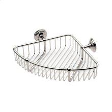 """Polished Nickel 9"""" Corner Basket"""