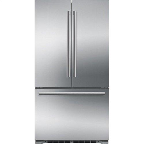 800 Series French Door Bottom freezer, 3 doors Inox-easyclean B21CT80SNS