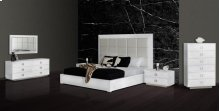 A&X Victoria Modern White Crocodile Bedroom Set