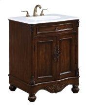 27 in. Single Bathroom Vanity set in Teak color