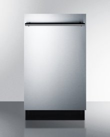 """18"""" Wide ADA Compliant Energy Star Qualified Dishwasher With Stainless Steel or Panel-ready Door, Made In Europe"""