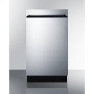 "Summit18"" Wide ADA Compliant Energy Star Qualified Dishwasher With Stainless Steel or Panel-ready Door, Made In Europe"