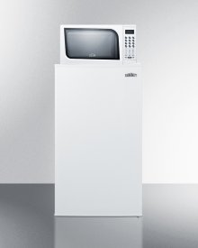 Compact Refrigerator-freezer-microwave Combination Unit In A White Finish