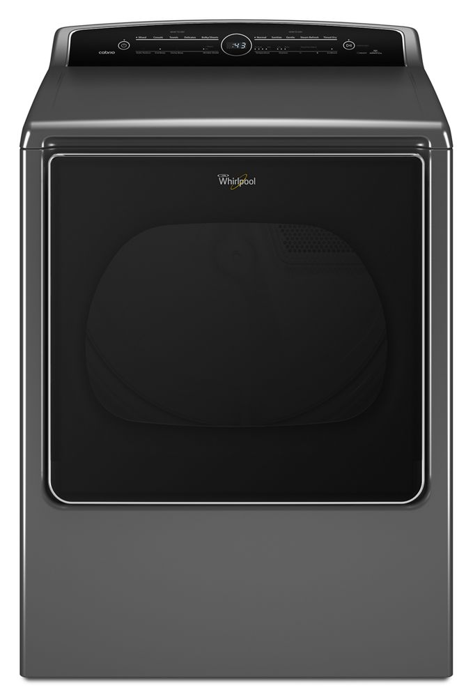 8.8 cu.ft Top Load HE Electric Dryer with Intuitive Touch Controls, Steam Refresh  CHROME