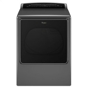 8.8 cu.ft Top Load HE Electric Dryer with Intuitive Touch Controls, Steam Refresh - CHROME