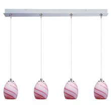 Swirl 4-Light RapidJack Pendant and Canopy