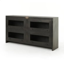 Rockwell Media Cabinet-antique Iron
