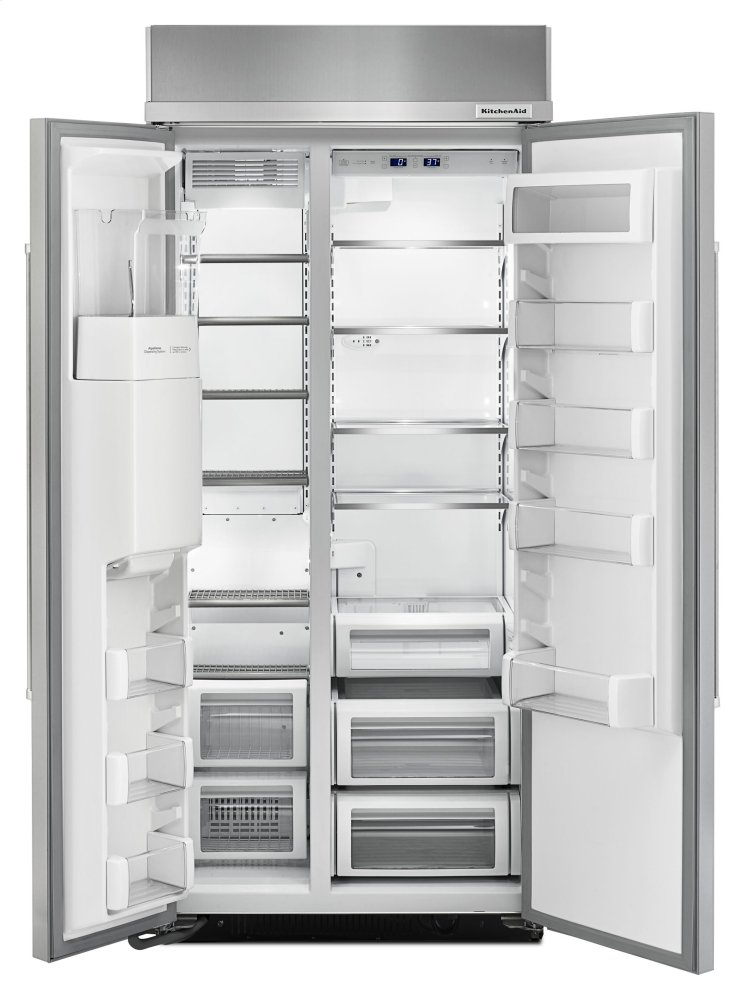 20.8 Cu Ft 36 Inch Width Built In Side By Side Refrigerator