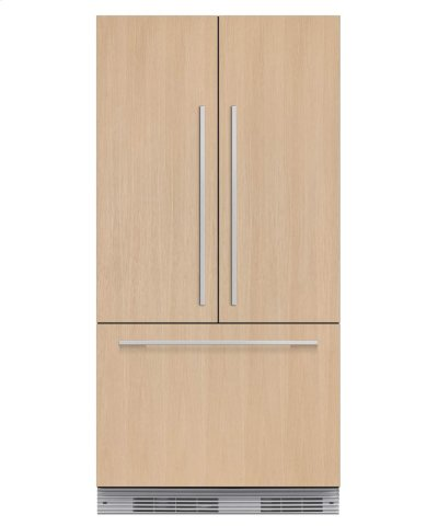 "Integrated French Door Refrigerator Freezer, 36"", 16.8 cu ft, Panel Ready, Ice Product Image"
