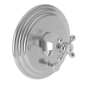 Polished Nickel - Natural Balanced Pressure Tub & Shower Diverter Plate with Handle. Less Showerhead, arm and flange.