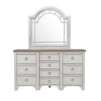Glendale Estates Transom Top Dresser Mirror Product Image