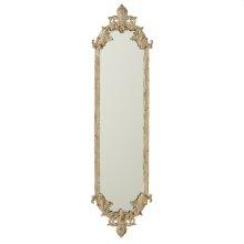 Distressed Ivory & Gold Fleur de Lis Vertical Wall Mirror