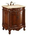 27 in. Single Bathroom Vanity set in Brown Product Image