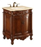 27 in. Single Bathroom Vanity set in Brown Product Image
