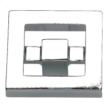Nobu Square Knob 1 3/8 Inch - Polished Chrome