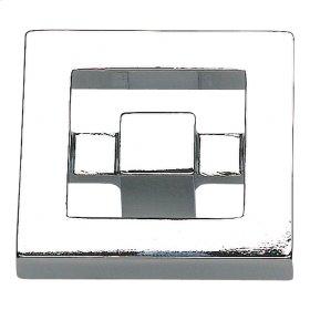 Nobu Square Knob 1 3/8 Inch - Polished Chrome